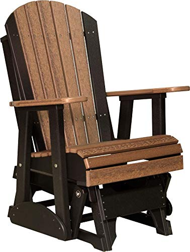 LuxCraft Recycled Plastic 2' Adirondack Glider Chair - Lead Time 14 Business Days