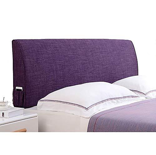 LXLIGHTS Kopfteil Kopfkissen Bettkeil Rückenpolster Stoffcouch Waschbar, 5 Farben 5 Größen (Color : Purple, Size : B-90 * 55 * 10cm)