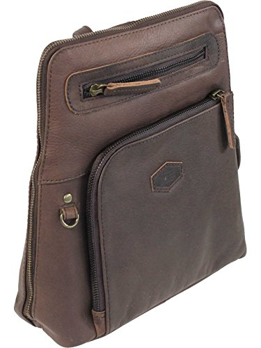 LandLeder PINCH OF WAX City Rucksack Leder braun