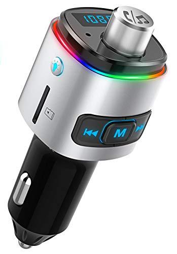 Inicio Voiture Bluetooth Transmetteur FM Sans fil Adaptateur Radio Kit Mains Libres 2 Ports USB Chargeur Support Cl/é USB Fonction de Charge Rapide