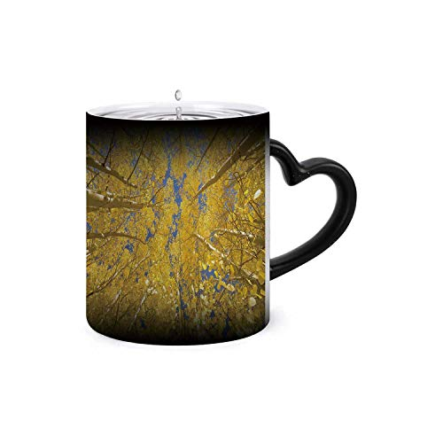Looking skyd amongst this patch of sun-lit aspen trees,Magic Mug Color Changing Add Hot Liquid for Milk, Tea, Mocha and Mulled Drinks Assorted Colors you feel a sensation calm wash over you as m brush -  C COABALLA, H7_Mug_t0421_01_005145