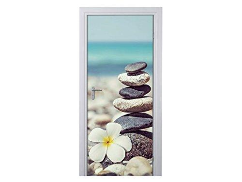 MELINERA Tür Dekofolie Steine aus Folie Türtapete Deko B 97,50 x H 204