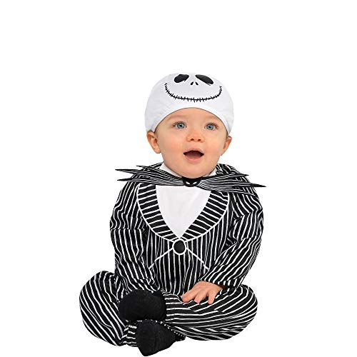 Suit Yourself Jack Skellington Halloween Costume for Babies, The Nightmare Before Christmas, Size 6-12 M, Includes Hat