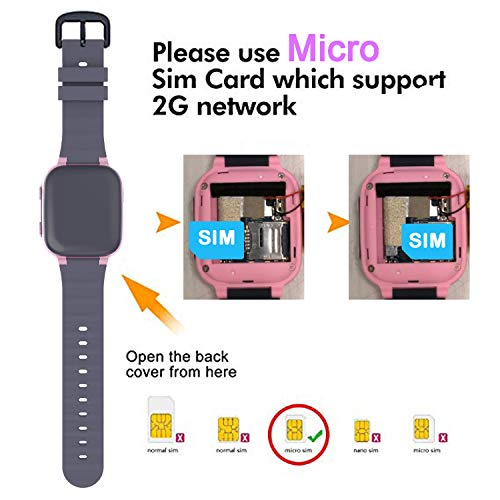 Kinder Uhr Smart Watch, Kinder Smartwatch LBS Telefon Uhr mit SOS Notruf Telefon Funktion Voice-Chat Telefonieren Uhr für Jungen und Mädchen