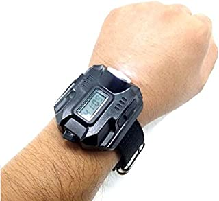 Super Bright Tactical Cree LED 1000 Lm Display Rechargeable Waterproof LED Flashlight Wrist Watch Torch Light