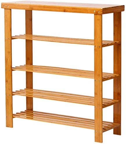 Zapatero 50 CM de Ancho Cubierta de Almacenamiento Estante Madera Marco de bambú Natural Estable a Prueba de Polvo para el hogar y Comercial (Tamaño: 50x27x91cm)-Los 50x27x91cm Improve