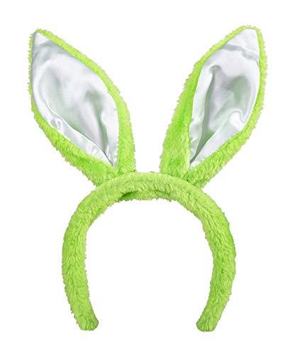 TH-MP Hasenohren Haarreif Bunny Osterhase Kostüm Zubehör Löffel Kaninchen Tierkostüm Accessoire (Grün)