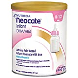 Neocate Infant DHA and ARA Powder 14.1 oz. Part No. 12595CA Qty 4 Per Case by Nutricia North America