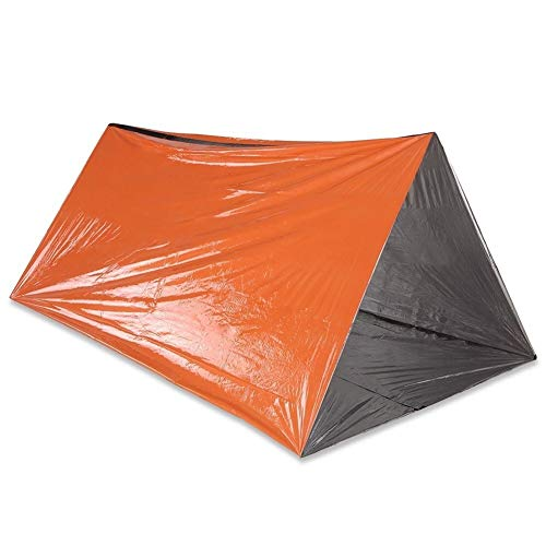 Emergency Tube Tent Survival Orange Shelter Rescue Camping Tent Aluminum Film Sleeping Bag Unisex Outdoor Dome Tent