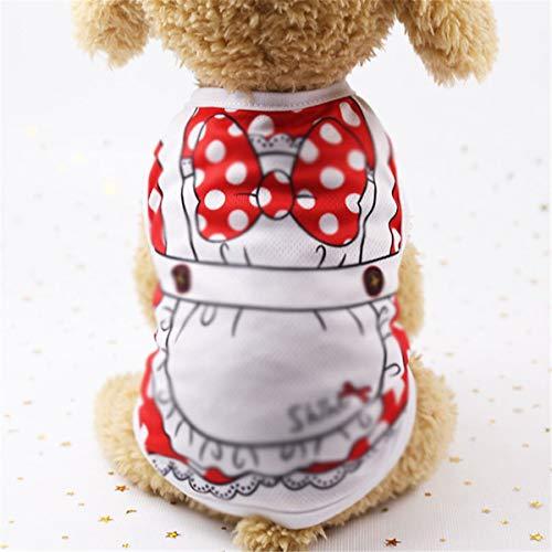 Strap vest katoen huisdier voorjaar en de zomer vest Teddybeer Xiong Bomei hondenkleding (Color : H, Size : XXL)