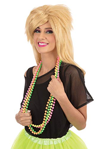 Neon Beaded Necklace Set. Madonna/Cyndi Lauper style. 4 Colors