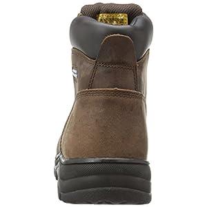 Skechers for Work Women's Workshire Peril Boot, Dark Brown, 9 M US
