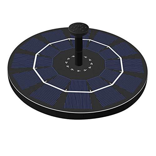ZGQA-GQA Bomba de Agua Flotante Jardín Solar Fuente de 180L / H Sumergible sin Cepillo del baño del pájaro Estanque de jardín de riego decoración 14500 batería