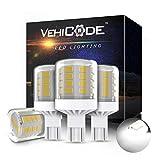 VehiCode Low volt 12V White 921 922 912 906 LED Bulb Daylight Interior Dome Light Replacement Kit for RV Camper Travel Trailer Marine Boat T15 Wedge T5 T10 Outdoor Malibu Landscape Lamp (4 Pack)