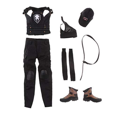 ZSMD 1: 6 camouflage pak voor 12 '' vrouwelijke actiefiguur - zwart Zwart zwart