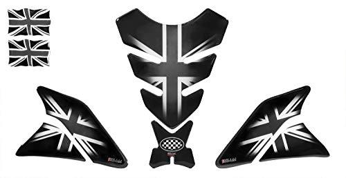 Bike Label 5007201 - Juego de Protectores para depósitos de Moto, diseño de Bandera británica