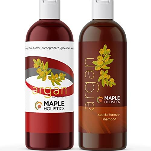 Argan Oil Shampoo and Conditioner Set - Sulfate...