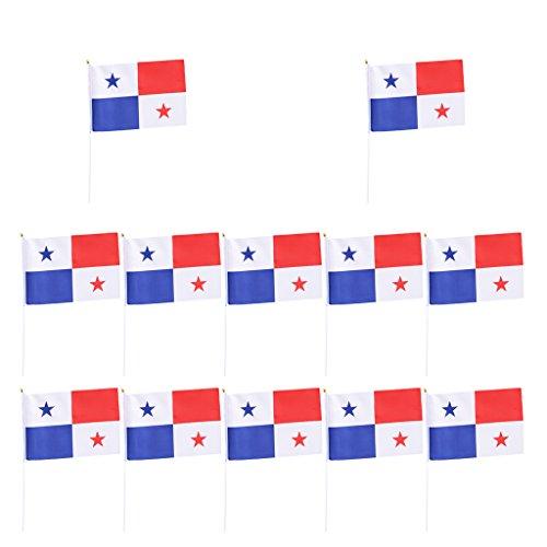 SM SunniMix Bandera de Alemania 12 | Copa del Mundo 2018 | Bandera de Palo | Bandera para Niños BRD | Bandera | Bandera de Alemania - Panamá
