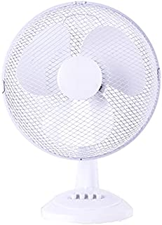 ASPECT 12inch Table Fan Desk Fan with 3 Speed Oscillating Stand Fan Low Noise Strong Resistant Base 12Inch Desk Fan