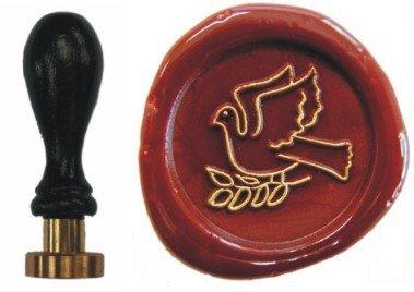 Siegel Stempel Petschaft Taube 24 mm