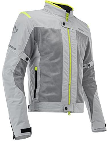 Acerbis Ramsey Vented Chaqueta textil para moto, gris/amarillo, L