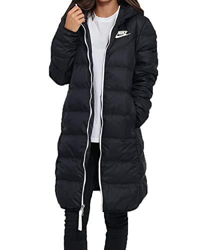 Nike W NSW WR Dwn Fill Prka Rev Parka, Damen M schwarz/schwarz/Segel