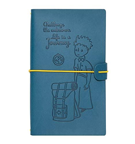 Grupo Erik CTBV002 - Cuaderno de viaje, Cuaderno de notas de cuero El Principito, 12x19,6x1,7 cm