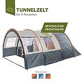 [page_title]-skandika Kemi 4 Personen Tunnelzelt mit 2 Schlafkabinen und 3000mm Wassersäule (grau/orange)
