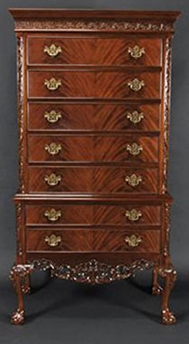 Learn More About Crotch Mahogany Two Piece Chest on Chest