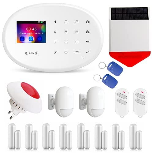 Profi WLAN Funk Alarmanlagenset Model W-20.WiFi-Smarthome vom Fachhändler KEPPSECURE- GSM & WiFi Alarmanlage mit Bewegungsmelder und weiterem Zubehör