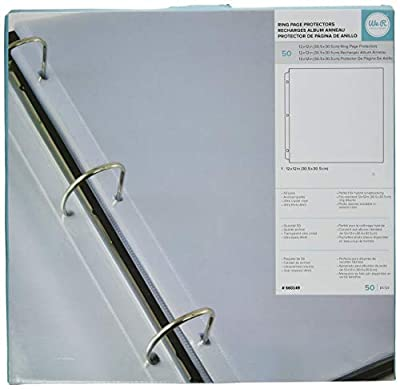 Ring Page Protectors, 50 Pack (12 x 12 Inch)