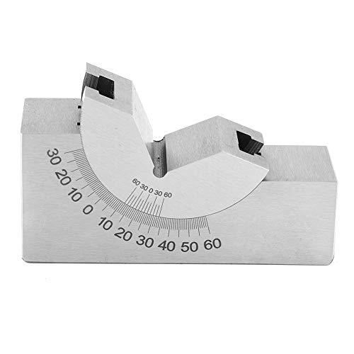 Medidor de ángulo, 0.01 mm de precisión Micro ángulo ajustable en bloque de fresado, pendiente de procesamiento de perforación de agujero inclinado para fresadora cepilladora