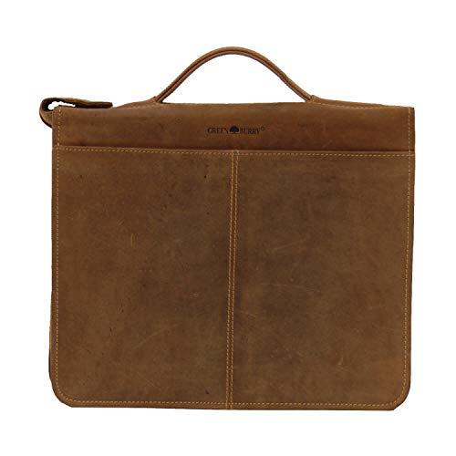 Greenburry Vintage portadocumento - carpeta con anillas piel 29 cm marrón