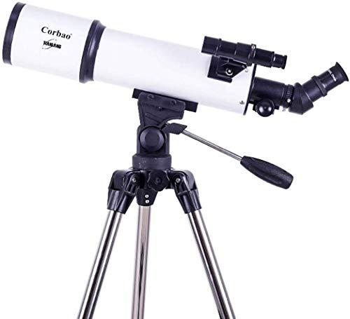 Praktisches Refraktor-Teleskop-Teleskop F1000114Eq Manuelle Äquatoriale Montage Praktische Teleskope für Erwachsene Kompakt und Tragbar, 500-Fach, Schwarz Praktisches Teleskop, TSJ