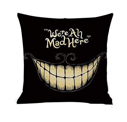 Black Temptation Canapé décoratif de Halloween, Couverture d'oreiller pour la décoration à la Maison, H3