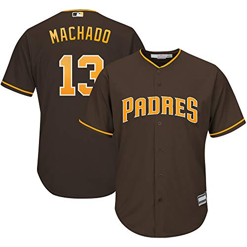 Outerstuff Manny Machado SD Padres MLB Boys Youth 8-20 Player Jersey (Brown Alternate, Youth Medium 10-12)