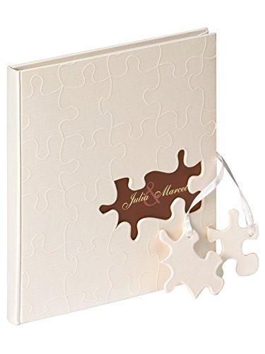 Walther Design GB-173 Puzzle Libro Degli Ospiti, 144 Pagine Bianche, 23 x 25 cm