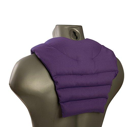 Cuscinetto ricurvo per collo e schiena, porpora - Cuscino termico cervicale con noccioli di ciliegia - Cuscino cervicale con parte schienale