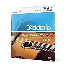 """Diseñadas y calibradas para guitarras de jazz estilo """"Django"""". Con terminación de bola. Tono cálido con proyección. Paquete ecológico y resistente a la corrosión para conservar la frescura de las cuerdas. Fabricado en EE. UU. para ofrecer la máxima c..."""