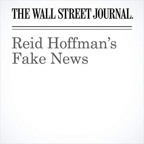 Reid Hoffman's Fake News audiobook cover art