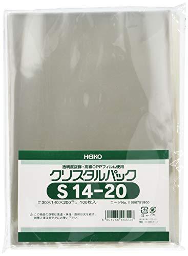 シモジマ 透明 OPP袋 クリスタルパック 14×20cm 100枚 S14-20