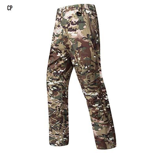 Military Kziu Summer Shark Skin Hard Shell Camouflage Waterproof Pants Men Hardshell Camo Paintball Tactical Army Cargo Trouser CP XXXL