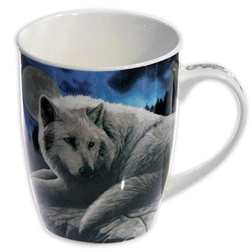 Close Up Wolf Tasse Guardian of The North/Porzellantasse mit 325ml Fassungsvermögem im Lisa Parker Design