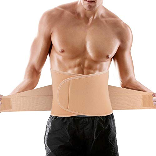 SZCLIMAX Back Braces for Lower Back Pain Relief, Breathable Waist Support Belt for Work, Lumbar Support Belt with 6 Stays for Sciatica, Scoliosis, Herniated Disc for Men/Women, Apricot, XL