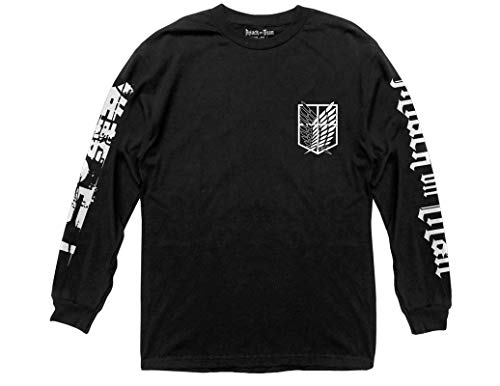 Ripple Junction Attack on Titan Scout Shield Long Sleeve Crew Neck Shirt Small Black
