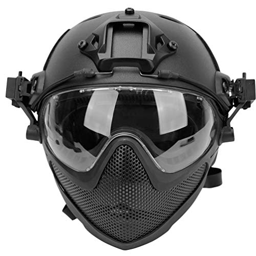Garneck Airsoft Helmet Fast Ballistic Helmet For Airsoft Paintball Hunting Shooting Outdoor Sports...