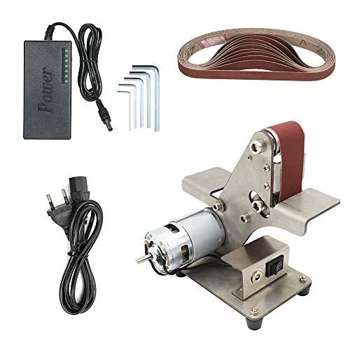 Baugger Bandschleifer - Mini-Bandschleifer Sand-Band-Maschine Desktop-Schleifband Schleifschleifmaschine Elektrische Diy-Poliermaschine