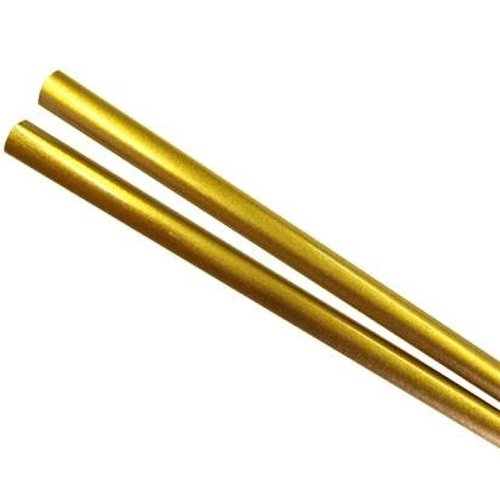 """Japanese Style Wooden Hashi Gold Lacquer 9"""" Chopsticks, Bulk Pack of 50 Pairs"""