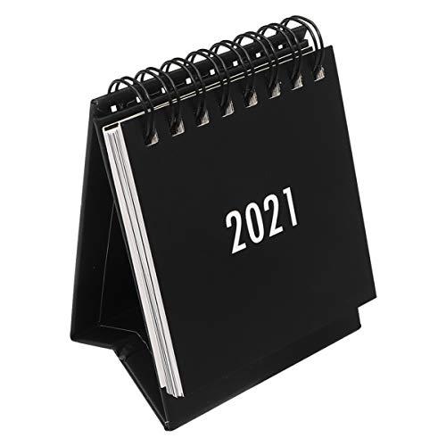 Small Desk Calendar Desktop Calendar 2020-2021 Standing Desk Calendar Home Desk Accessories Small Monthly Desk Calendar for Office