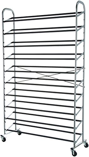 Amazon Basics 50-Pair Shoe Rack Organzier